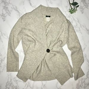 J. Crew wool cashmere button sweater cardigan xs